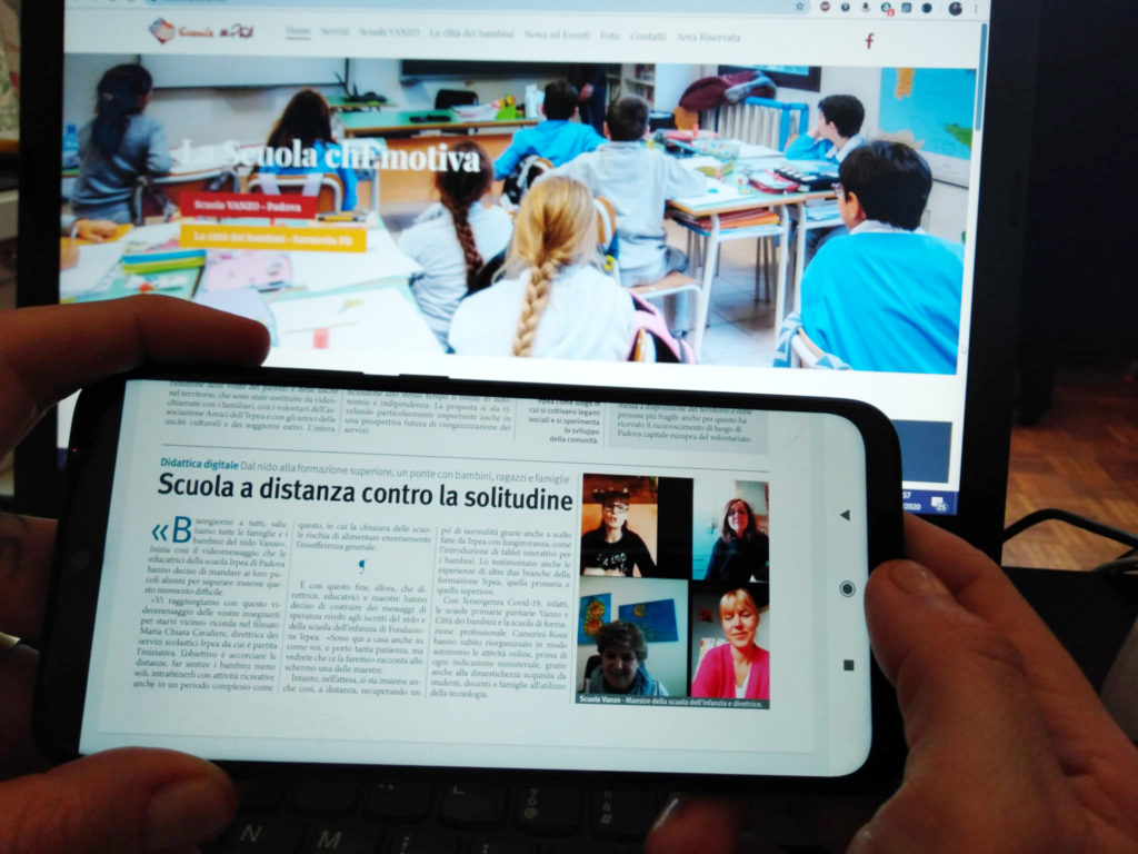 """""""Scuola a distanza contro la solitudine"""", articolo La Difesa del Popolo del 19 Aprile 2020"""